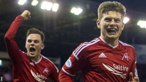 Cammy Smith (right) celebrates his goal against St Johnstone