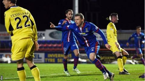 Inverness scorer Billy McKay