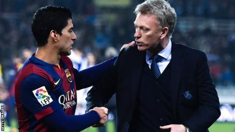 Luis Suarez and David Moyes