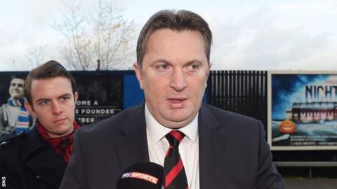 Rangers' football chairman, Sandy Easdale
