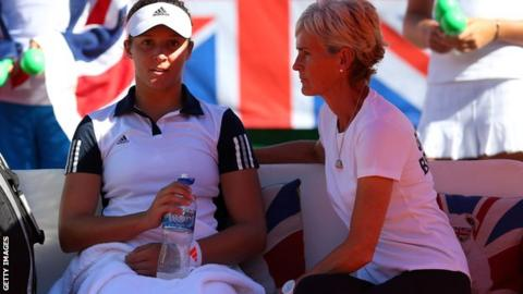 Laura Robson and Judy Murray