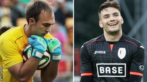 Marko Dmitrovic and Tony Watt