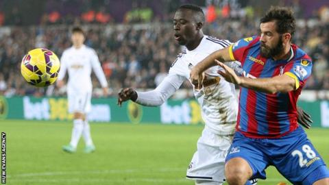 Swansea City's Modou Barrow is the first Gambian to play in the Premier League