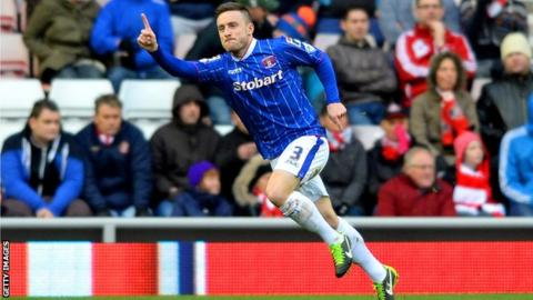 Carlisle left back Matty Robson