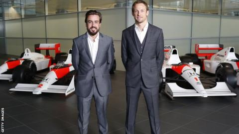 McLaren-Honda, Formula 1 drivers Fernando Alonso and Jenson Button