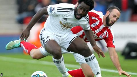 Wilfried Bony was the Premier League's top scorer in the 2014 calendar year with 20 goals