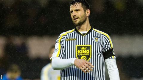 St Mirren striker Steven Thompson