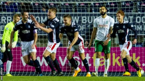 Falkirk beat Hibs 1-0 with a stoppage-time goal in December
