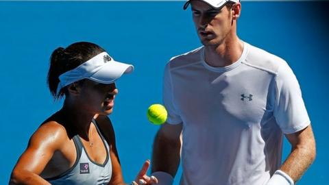 Heather Watson and Andy Murray
