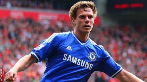 Chelsea defender Tomas Kalas