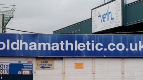 Boundary Park, Oldham's stadium