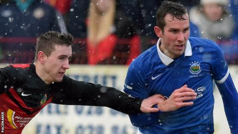 Andrew Waterworth scored both goals as Linfield beat Tobermore 2-0
