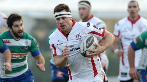Tommy Bowe scored the third of Ulster's tries against Treviso