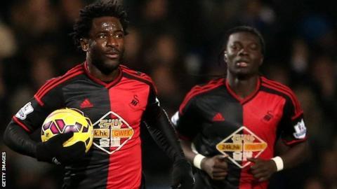 Wilfried Bony's striker role at Swansea City will be filled by Bafetimbi Gomis