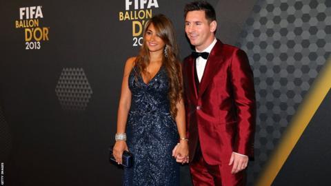 Lionel Messi attends the 2013 Fifa Ballon d'Or award ceremony in 2014