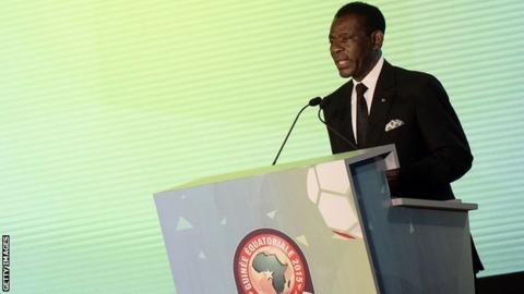 Equatorial Guinea president Teodoro Obiang Nguema
