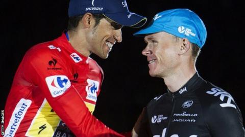 Contador (left) and Froome at the 2013 Tour de France