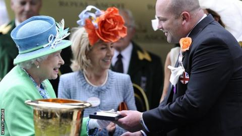 The Queen and Peter Moody