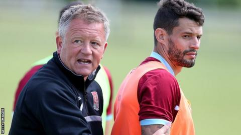 Chris Wilder and Marc Richards