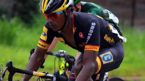 Frekalsi Debesay. Eritrean cyclist Frekalsi Debesay in action for MTN-Qhubeka  in 2014. An African-registered team will compete in the Tour de France ... c6a3cf594