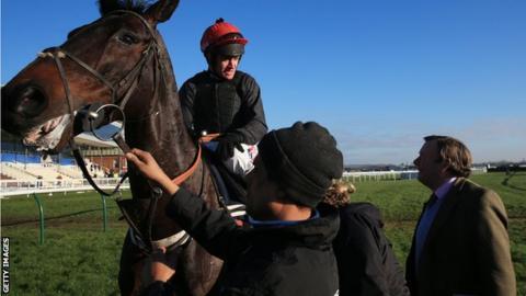 Sprinter Sacre with jockey Barry Geraghty
