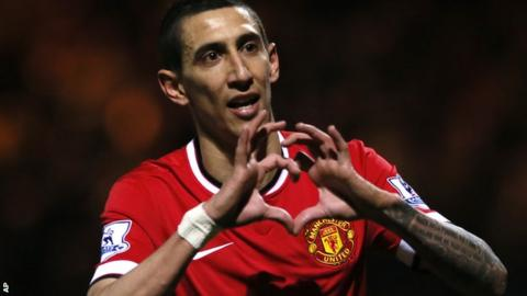 Manchester United united midfielder Angel Di Maria