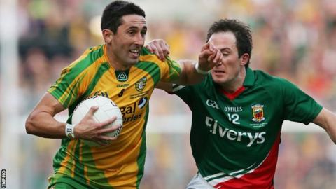 Rory Kavanagh is tackled by Mayo's Alan Dillon in the 2012 All-Ireland final