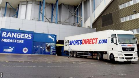 Sports Direct have lodged advance notices of loan securities against Ibrox and Murray Park