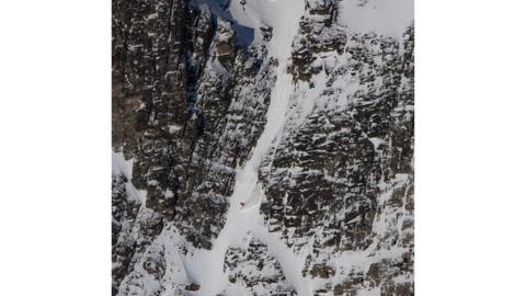 Xavier and Sam are reaching speeds of up to 70mph in a tight chute with variable snow, compulsory drops and a gradient so steep that stopping is not an option. They have to commit - there is no escape and they are six hours away from basic medical care should anything go wrong