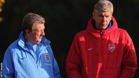 Roy Hodgson and Arsene Wenger