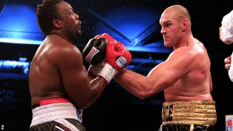 Tyson Fury beats Dereck Chisora in November to claim the British and European heavyweight titles