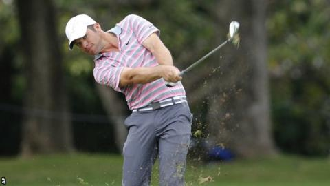 Paul Casey in second-round action at the Sony Open