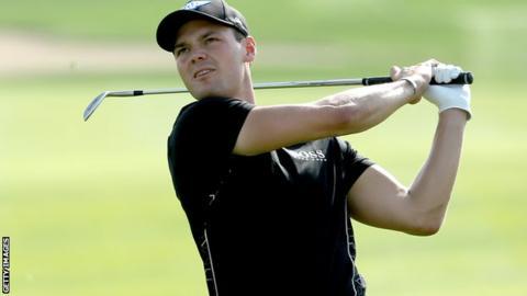 Martin Kaymer in third-round action at the Abu Dhabi Championship