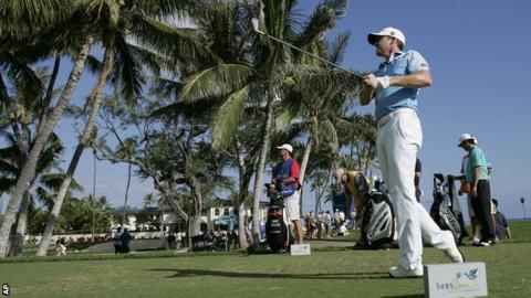 Jimmy Walker in third-round action in Hawaii