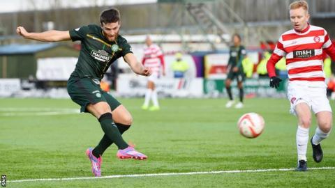 Adam Matthews nets against Hamilton