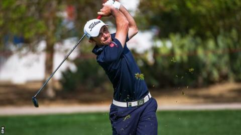 Gary Stal in final-round action in Abu Dhabi