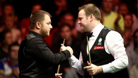 Antrim's Mark Allen lost 6-2 to Shaun Murphy in the semi-finals of The Masters at Alexandra Palace on Saturday night