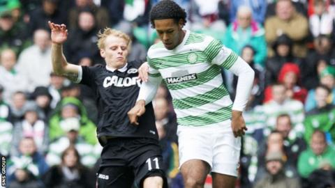 Gary Mackay-Steven in action against Celtic