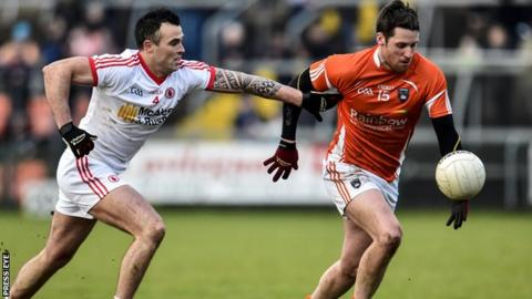 Cathal McCarron challenges Gavin McParland in the 4 January encounter at the Athletic Grounds