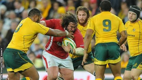 Prop Adam Jones has won 95 Wales caps and five for the British and Irish Lions