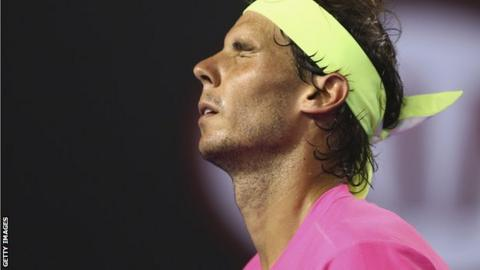 Rafael Nadal of Spain grimaces during his second round match against Tim Smyczek of the United States during day three of the 2015 Australian Open at Melbourne Park.