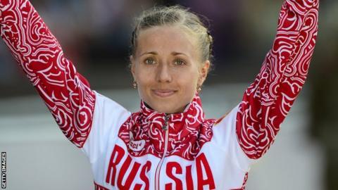 Russian racewalker Olga Kaniskina