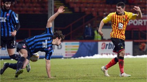 Kris Doolan scores for Partick Thistle against Hamilton Academical
