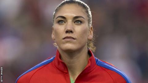 US women's team goalkeeper Hope Solo