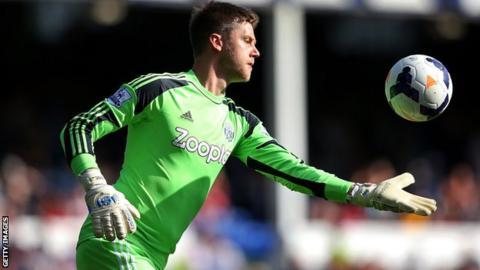 West Brom keeper Luke Daniels