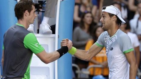 Andy Murray with Joao Sousa