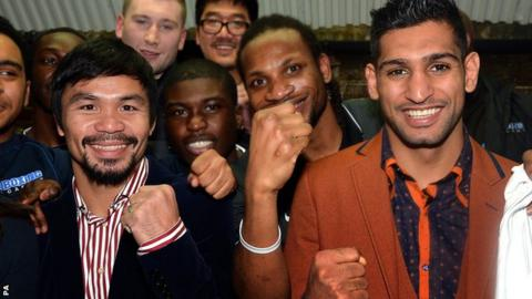 Amir Khan and Manny Pacquiao