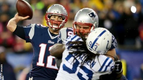 Patriots quarterback Tom Brady against Indianapolis Colts