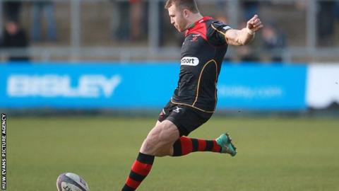 Newport Gwent Dragons full-back Tom Prydie kicked 17 of his side's points against Stade Francais