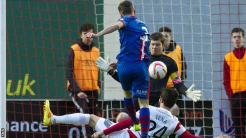 Graeme Shinnie's shot was deflected into the net for the opening goal for Inverness.